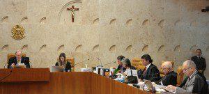 Ministros do STF em sessão plenária. Foto: Carlos Humberto/SCO/STF (18/06/2015)