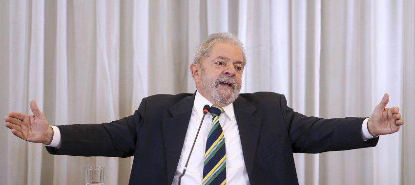 28/03/2016- São Paulo- SP, Brasil- O ex-presidente Luiz Inácio Lula da Silva participa de coletiva à imprensa internacional. Foto: RIcardo Stuckert/ Insituto Lula