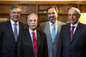 Sócios Mário de Barros Duarte Garcia, Mário Sérgio Duarte Garcia, Luis Eduardo Serra Netto e Marcelo Terra Crédito: Divulgação