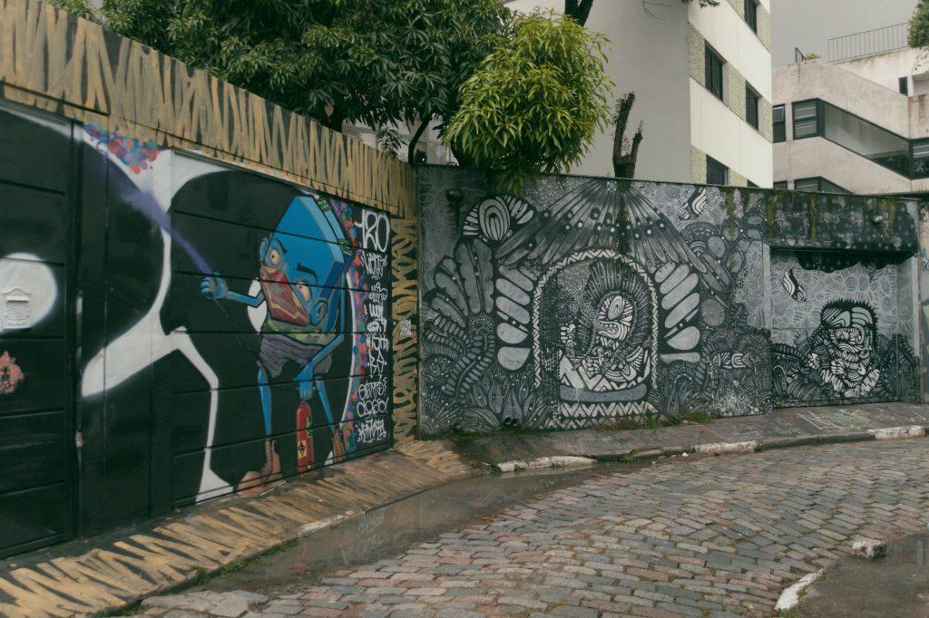 Grafite no Beco do Batman, na Vila Madalena
