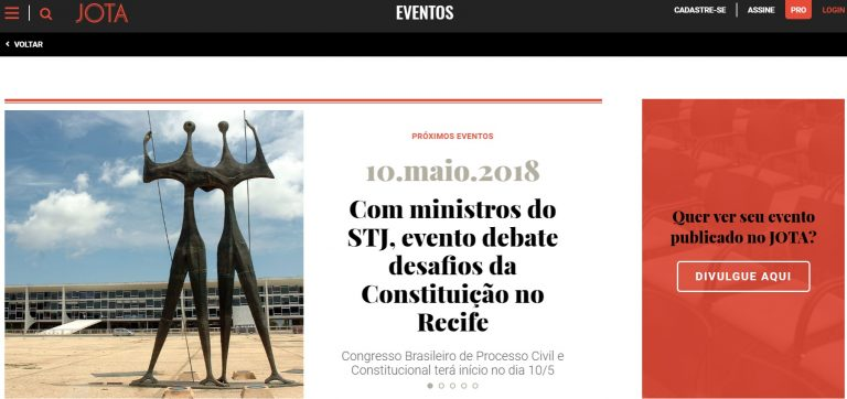 JOTA lança nova editoria de eventos jurídicos