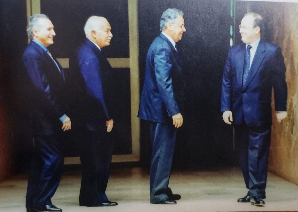 Celso de Mello e os presidentes dos Três POderes