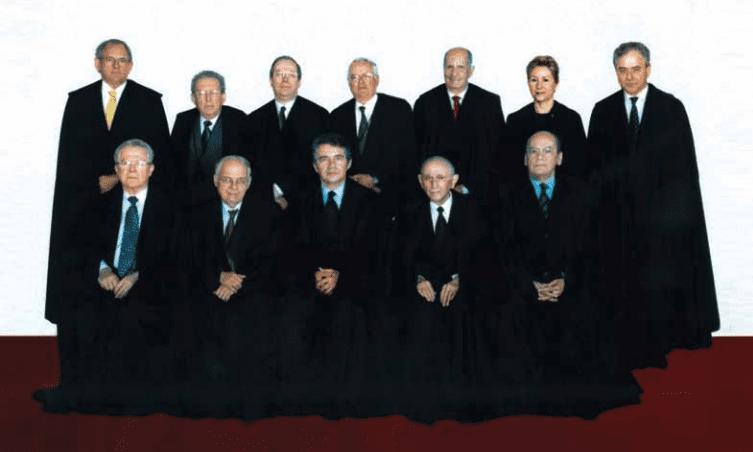 A composição do STF na presidência de Marco Aurélio